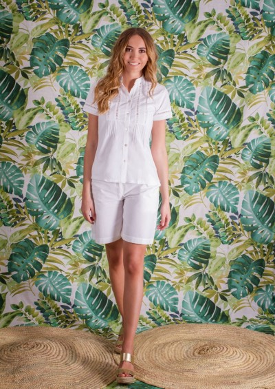 Hand embroidered Blouse Cuba Mao